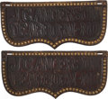Western Expansion:Cowboy, Western Americana: Matched Pair of Advertising Harness Gear fromDearborn, Missouri, Circa 1890.... (Total: 2 Items)