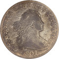 Early Half Dollars, 1801 50C Fine 15 ANACS....