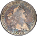 Early Half Dollars, 1806 50C 6 Over Inverted 6 XF40 PCGS....
