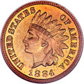 Proof Indian Cents, 1884 1C PR66 Red Cameo NGC....