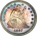 Proof Seated Quarters, 1867 25C PR67 NGC....
