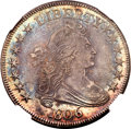 Early Half Dollars, 1806 50C Pointed 6, Stem AU58 NGC. CAC....