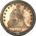 Proof Seated Quarters, 1867 25C PR65 Cameo NGC....