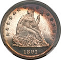Proof Seated Quarters, 1891 25C PR66 NGC....