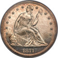 Proof Seated Dollars, 1871 $1 PR63 Cameo PCGS. CAC....