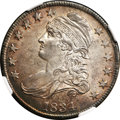 Bust Half Dollars, 1834 50C Large Date, Small Letters MS64 NGC....