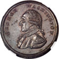 Colonials, Undated PENNY Washington Liberty & Security Penny, Corded Rim MS64 Brown NGC....
