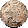 Early Half Dimes, 1797 H10C 15 Stars--Improperly Cleaned--NGC. XF Details....
