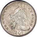 Early Half Dollars, 1806 50C Pointed 6, Stem XF40 PCGS....