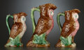 Ceramics & Porcelain, A SET OF THREE VICTORIAN PITCHERS IN GRADUATED SIZES . Staffordshire, England, circa 1880-1885. Unmarked. 11 inches (tallest... (Total: 3 Items)