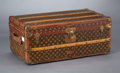 Furniture : French, A FRENCH STEAMER TRUNK . Louis Vuitton, Paris, France, circa 1940. Marks: manufacturer's label to interior numbered 759926...