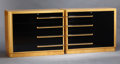 Furniture : American, A PAIR OF AMERICAN BIRCH AND BLACK LACQUER CHESTS OF DRAWERS . Attributed to Modernage, New York, New York, circa 1940. Mark... (Total: 2 Items)