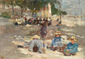 Fine Art - Painting, European:Modern  (1900 1949)  , Attributed to MAX LIEBERMANN (German, 1847-1935). Picnic in thePark. Oil on board. 8 x 11-1/2 inches (20.3 x 29.2 cm). ...