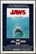 "Movie Posters:Horror, Jaws Lot (Universal, 1975). One Sheet (27"" X 41"") and Lobby Cards(2) (11"" X 14""). Horror.. ... (Total: 3 Items)"