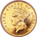 Proof Three Dollar Gold Pieces, 1886 $3 PR63 Cameo PCGS. CAC....