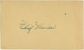 Baseball Collectibles:Others, Chief Bender Signed Index Card....