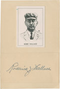 Baseball Collectibles:Others, Bobby Wallace Signed Cut Signature....
