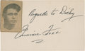 Baseball Collectibles:Others, Jimmie Foxx Signed Index Card....