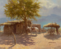 OLAF WIEGHORST (American, 1899-1988) The Old Ranch Oil on canvas 24 x 30 inches (61.0 x 76.2 cm)<