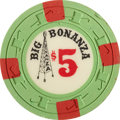 Miscellaneous:Gaming Chips, Big Bonanza $5 North Las Vegas Casino Chip, First (Only) Issue,R-8, 1967....