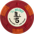 Miscellaneous:Gaming Chips, The Mint $5 Las Vegas Casino Chip, Seventh Issue, R-9, Circa Late1960s....