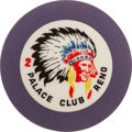 Miscellaneous:Gaming Chips, Palace Club 2 Reno Roulette Chip, Unlisted....