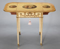 Furniture , A GEORGE III PAINTED, CARVED AND GILT PEMBROKE TABLE . Attributed to George Brookshaw, London, England, circa 1788. Unmarked... (Total: 2 Items)