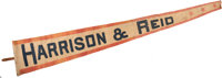 Harrison & Reid: Dramatic and Colorful Large Banner in Pennant Form
