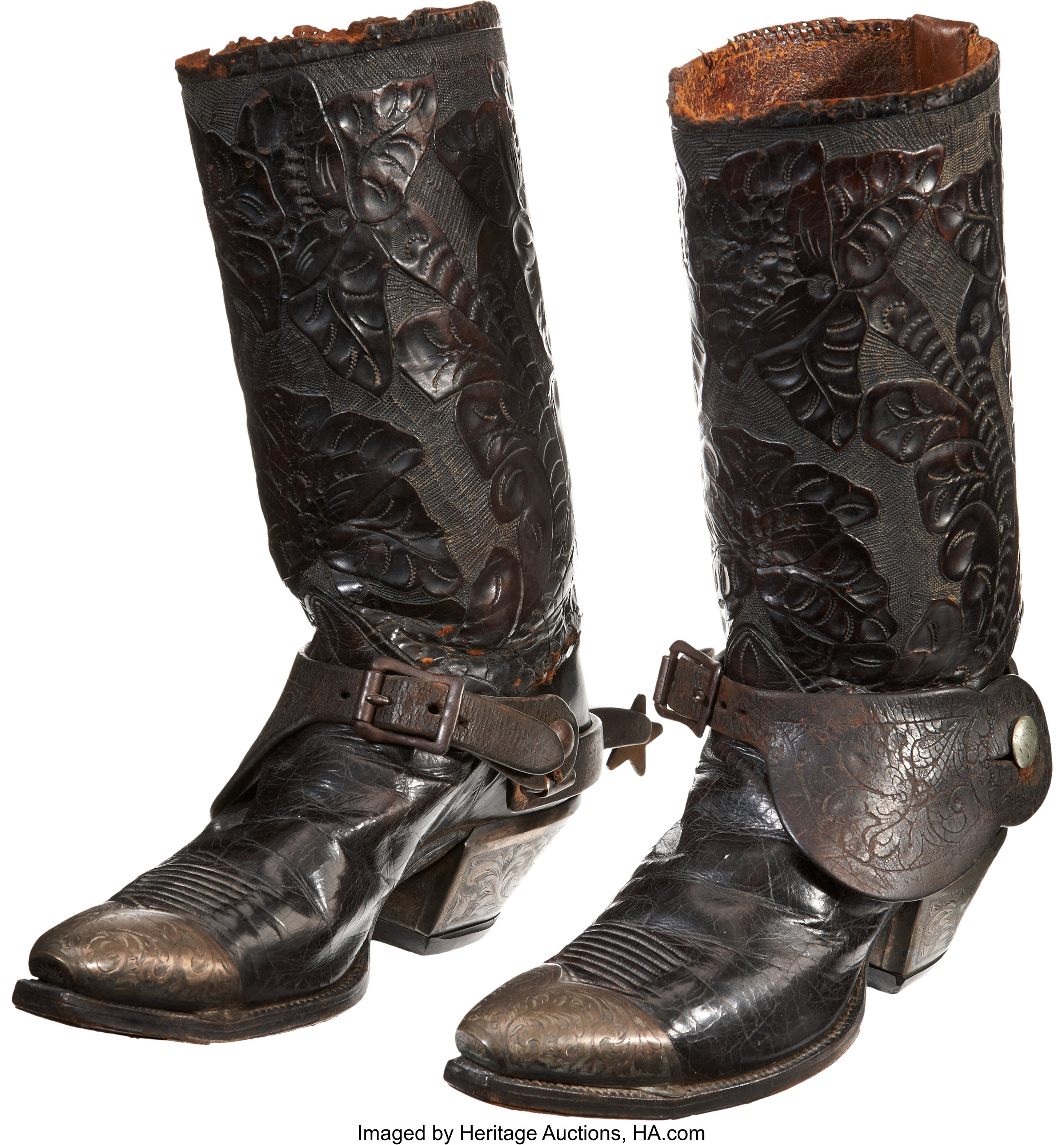 Tooled Leather Cowboy Boots