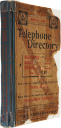 Western Expansion:Goldrush, Western Americana: March 1899 Pacific States TelephoneDirectory,...