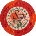 """Miscellaneous:Gaming Chips, Sands $5 Las Vegas Casino Chip, """"A Place in the Sun,"""" Fifth Issue,R-6, Circa 1956...."""