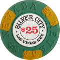 Miscellaneous:Gaming Chips, Silver City $25 Las Vegas Casino Chip, First issue, R-9, 1975....