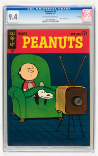 Peanuts #1 File Copy (Gold Key, 1963) CGC NM 9.4 Off-white to white pages