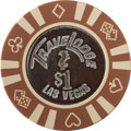 Miscellaneous:Gaming Chips, TraveLodge $1 Las Vegas Casino Chip, First (Only) Issue, R-8, Circa1980s....