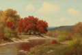 Texas:Early Texas Art - Regionalists, PALMER CHRISMAN (American, 1913-1984). Autumn Landscape. Oilon canvas. 24 x 36 inches (61.0 x 91.4 cm). Signed lower le...