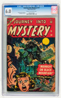 Golden Age (1938-1955):Horror, Journey Into Mystery #17 (Marvel, 1954) CGC FN 6.0 Cream tooff-white pages....