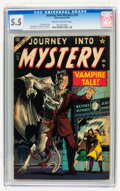 Golden Age (1938-1955):Horror, Journey Into Mystery #16 (Marvel, 1954) CGC FN- 5.5 Cream tooff-white pages....