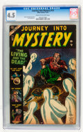 Golden Age (1938-1955):Horror, Journey Into Mystery #13 (Marvel, 1953) CGC VG+ 4.5 Cream tooff-white pages....