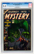 Golden Age (1938-1955):Horror, Journey Into Mystery #10 (Marvel, 1953) CGC FN- 5.5 Cream tooff-white pages....