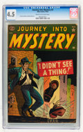 Golden Age (1938-1955):Horror, Journey Into Mystery #3 (Marvel, 1952) CGC VG+ 4.5 Cream tooff-white pages....