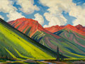 Texas:Early Texas Art - Modernists, OLIN TRAVIS (American, 1888-1975). Red Mountain, circa 1938.Oil on masonite. 35 x 47 inches (88.9 x 119.4 cm). Signed l...