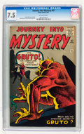 Silver Age (1956-1969):Horror, Journey Into Mystery #67 (Marvel, 1961) CGC VF- 7.5 Off-whitepages....