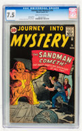 Silver Age (1956-1969):Science Fiction, Journey Into Mystery #70 (Marvel, 1961) CGC VF- 7.5 Cream to off-white pages....