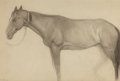 Western:20th Century, CARL LINK (American, 1887-1968). Horse Study. Pencil on paper. 10 x 14-1/2 inches (25.4 x 36.8 cm). Signed lower left: ...