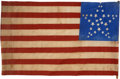 Antiques:Folk Art, United States 34 Star Flag: Impressive and Graphic Civil War-Era Flag. ...
