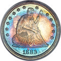 Proof Seated Quarters, 1883 25C PR67 PCGS. CAC....
