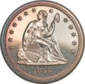 Proof Seated Quarters, 1859 Seated Quarter PR62 NGC....