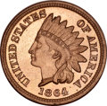 Proof Indian Cents, 1864 Indian Cent Copper-Nickel PR65 NGC....