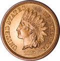 Proof Indian Cents, 1872 Indian Cent PR64 Red and Brown NGC....