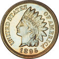 Proof Indian Cents, 1895 Indian Cent PR64 Brown NGC....